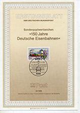 Alemania Hoja Primer día 125 Aniversario Ferrocarril año 1985 (CT-4)