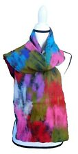 Felted Scarf: Handmade Multi-colored Merino Wool (NUNO Felt) and Silk Scarf