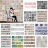 Self Adhesive Tile Stickers Home Decor Kitchen Bathroom Wall DIY Decals Sticker