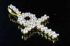 Unisex Echtschmuck-Halsketten & -Anhänger mit Diamant-Kreuz-Motiv