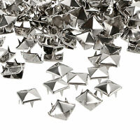DIY Metal Punk Square Pyramid Spike Rivet Studs Nailhead Craft (Size:10MM)