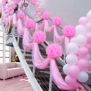 10m Sheer Organza Tulle Roll Fabric for Wedding Party Decoration Chair Sashes