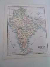 Antique Map 1890 INDIA - From Philips Atlas For Beginners  §21