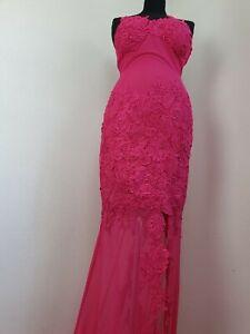 Alberto MAKALI Size 10 Pink Prom Ball Gown Dress