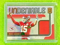 PATRICK MAHOMES JERSEY CARD PRIZM PATCH CHIEFS 2019 Panini Unparalleled RELIC SP