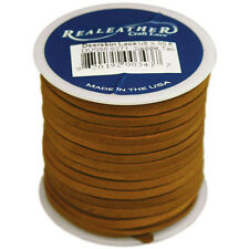 """Deerskin Lace .125""X50' Spool-Saddle Tan"""