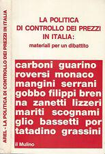 La politica di controllo dei prezzi in Italia