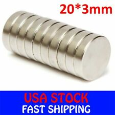 Super Strong N50 Round Disc Neodymium Mini Fridge Magnets Rare Earth 20mm x 3mm