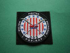 P.A.F Polish AIRFORCE 303 FIGHTER SQUADRON PATCH Pilot army wing POLAND WWII RAF