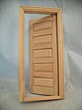 DOOR - 5 PANEL INTERIOR  Dollhouse miniature wooden #6021  1/12 Scale Houseworks