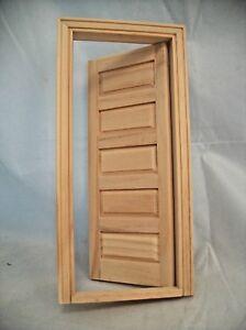 DOOR - 5 PANEL INTERIOR  Dollhouse miniature wooden #6021  1/12 Scale Houseworks