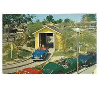 Disneyland Vintage Unused 1955 Postcard Midget Autopia Fantasyland D-12