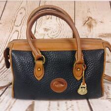 Vintage Dooney and Bourke Satchel/Doctor Purse Black Pebbled Leather Crossbody