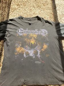 Vintage Entombed shirt 1990 Earache XL Cannibal Corpse Morbid Angel Obituary