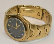 Armitron Diamond 20/4242GP Y121E Stainless gold plt Men's watch runs new battery