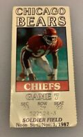 Chicago Bears Vs Kansas City Chiefs NFL Soldier Field Ticket Stub 11/1/87 1987