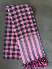 Krama Traditional Pink Scarf Khmer Cotton Woven Mixed Scarf Cambodia 100