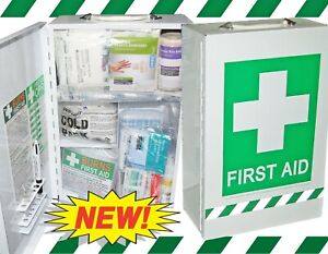 FIRST AID KIT - NATIONAL AUSTRALIA SAFEWORK WALL CABINET KIT - COMPREHENSIVE!