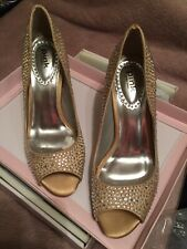Pink By Paradox London. Champagne Diamante Gem Heels. Brand New! Size 3.5