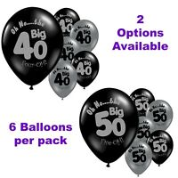 50th 40th Birthday Decorations - Oh No the Big 40 & 50 Birthday Party Balloons