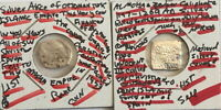 TWO VERY RARE ISLAMIC EMPIRES SILVER COINS 1147-1450 AD--FROM THE MIDDLE AGES #c