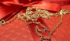 14 K 585er massiccio collana catena collana in Oro Oro 5,45 grammi 61 cm
