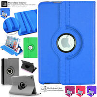 "Apple iPad 9.7"" 360 Rotating Leather Smart Stand Case Cover 2017 5th Generation"