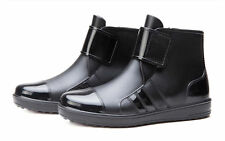 Mens Waterproof Rubber Ankle Rain Boots (UK Size 9)