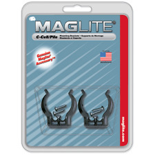 Maglite ASXCAT6 Black Universal Mounting Brackets For C-Cell Flashlight (2 Pack)