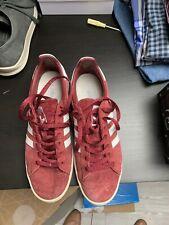 adidas originals Dark Red Suede Campus Trainrrs 10 Mens