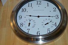 "Restoration Hardware 18"" Garden Clock Thermometer Barometer"