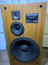 Note 1 Tweeter repaired. See Details. Pair of Vintage Kenwood Speakers JL-670