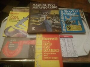 Machine Tool Metal working And Starrett And Brown & Sharpe Manuel's Lot Of 5