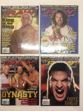 Lot of 4 WWE Raw Magazine 2004 Aug Sep Nov Holiday Flair Eugene Triple H Batista