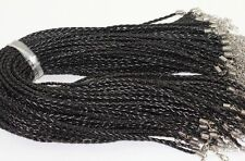 Wholesale 100pcs Jewelry lots PU Leather Cord Necklace with Lobster Clasp Charms