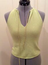 Tahari Petite Green Cashmere Sleeveless Tie Top Sz Medium