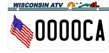 "5""X10"" UTV/ATV license Plate, Wisconsin Flag Style License Plate"