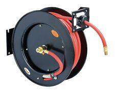 ReelWorks L815153HA Steel Retractable Air Compressor/Water Hose Reel with 3/8...