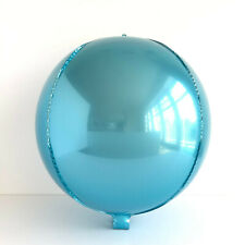 "Brand New 22"" Sphere Orb Round Balloons Light Blue Party Balloons"