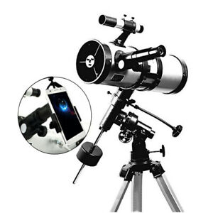 Visionking 114 1000 mm EQ Equatorial Space Astronomical Telescope Phone Adapter