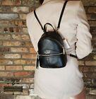 NWT Kate Spade Karina Mini Convertible Leather Backpack in BLACK ZIPPER POCKET