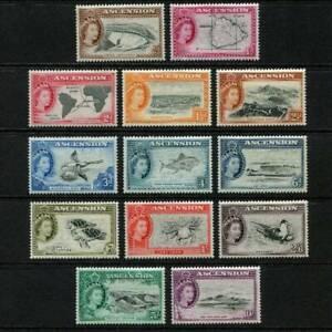 ASCENSION ISLANDS STAMPS QE II, 1956, Set of 13 LMM SG57/69- Cat £140.