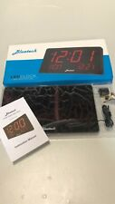 NEW! BLUETECH Large LED Display Clock - Time - Date- Month - Day