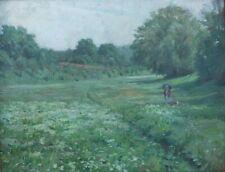 Junges Paar in Sommerlandschaft, Impressionist, Jugendstil