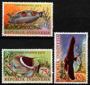INDONESIA 1975 - SET FISH MNH