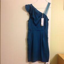 NWT $128 BCBG Generation One Shoulder Cocktail Mini Dress Green Size 6