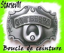 """BOUCLE DE CEINTURE CEINTURON GOT """"BEER POUR """"PANTALON HOMME FEMME"""
