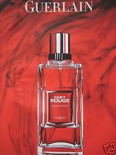 PUBLICITÉ PAPIER 2007 GUERLAIN AVEC HABIT ROUGE PARIS - ADVERTISING