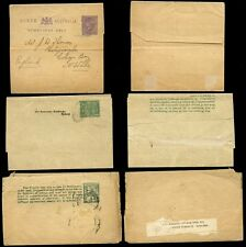 AUSTRALIA QV STATIONERY...3 NEWSPAPER WRAPPERS USED QUEENSLAND + SA
