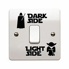 STAR Wars Dark Light Interruttore laterale Vinile Decalcomania Sticker bambini stanza casa muro